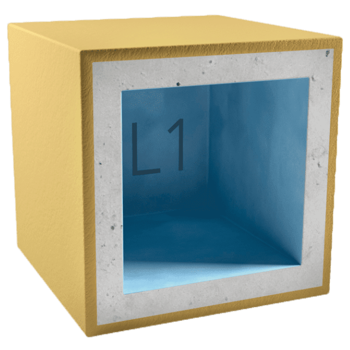 Короб звукоизоляционный для светильника AcousticGyps Box L1 150х150х100 мм, цена - купить у оптового поставщика