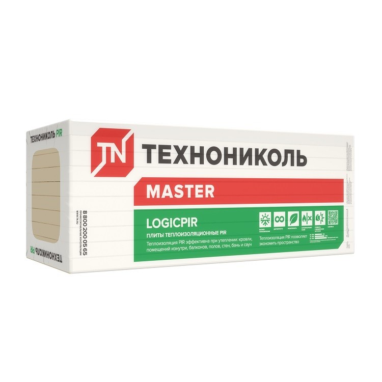 Теплоизоляция Технониколь Logicpir L 1185х585х40 мм 6 плит в упаковке, цена - купить у оптового поставщика