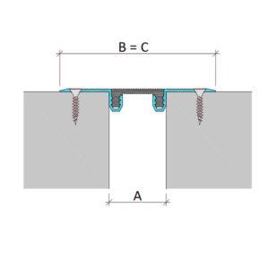 Профиль для деформационного шва без нагрузки Аквастоп тип ДГК-0/020