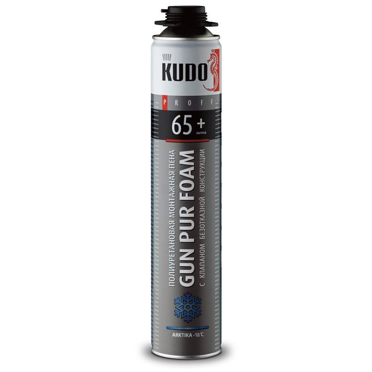 Пена монтажная профессиональная Kudo Proff 65+ Arktika зимняя , цена - купить у оптового поставщика