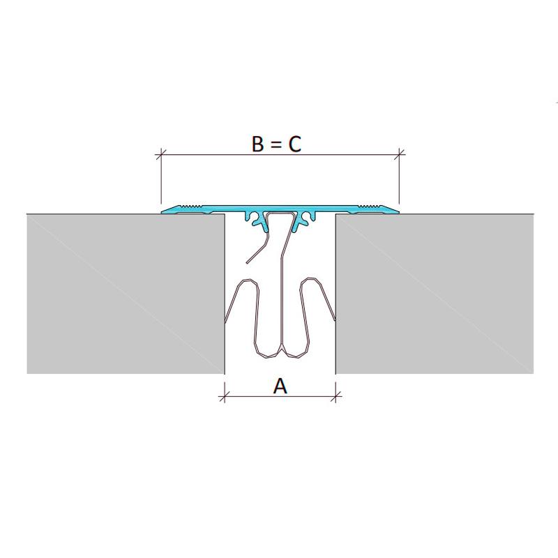 Накладной профиль для деформационного шва ПСА-050