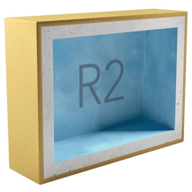 Подрозетник звукоизоляционный AcousticGyps Box R2 200х120х45 мм, цена - купить у оптового поставщика