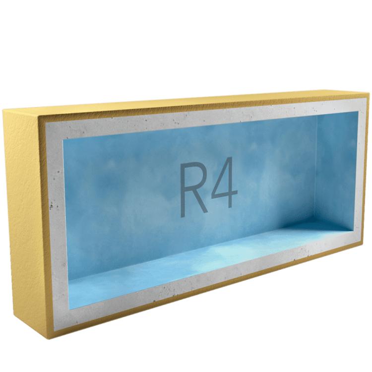 Подрозетник звукоизоляционный AcousticGyps Box R4 340х120х45 мм, цена - купить у оптового поставщика