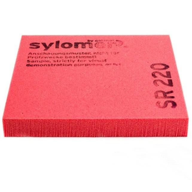 Виброизолирующий эластомер Sylomer SR 220 красный 1200х1500х25 мм, цена - купить у оптового поставщика