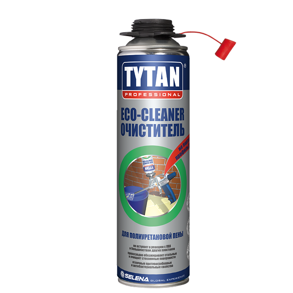 Очиститель для полиуретановой пены Tytan Eco-Cleaner 500 мл, цена - купить у оптового поставщика