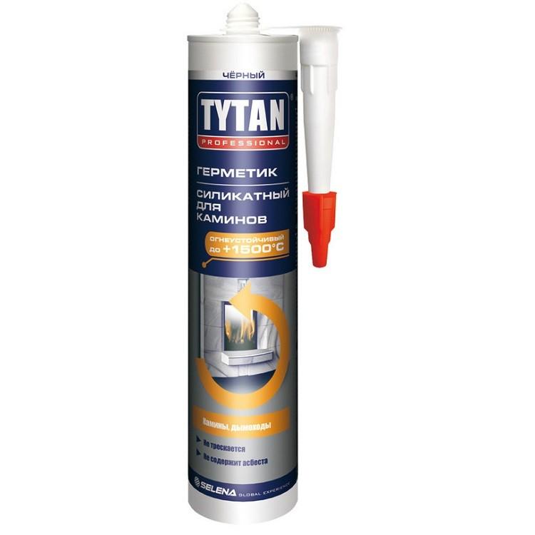 Герметик силикатный Tytan Professional для каминов черный 310 мл, цена - купить Tytan Professional для каминов черный 310 мл в Москве