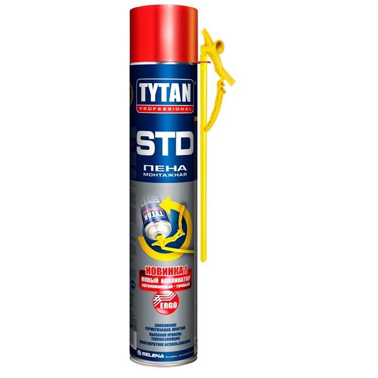Пена монтажная Tytan Professional STD с аппликатором Ergo 750 мл, цена - купить у оптового поставщика