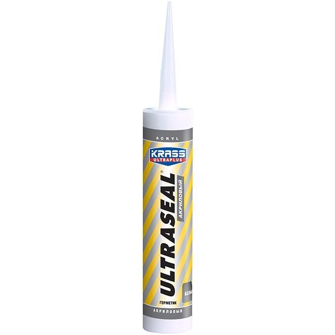 Герметик акриловый Krass Ultraseal белый 260 мл, цена - купить у оптового поставщика