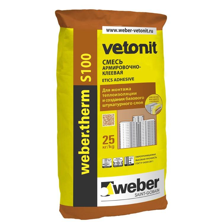 Клей для теплоизоляции Weber.Vetonit Therm S100, цена - купить Weber.Vetonit Therm S100 в Москве
