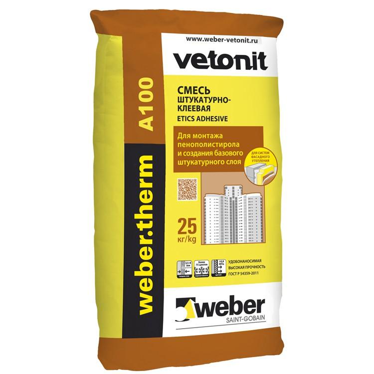 Клей для пенополистирола Weber.Vetonit Therm A100, цена - купить Weber.Vetonit therm A100 в Москве