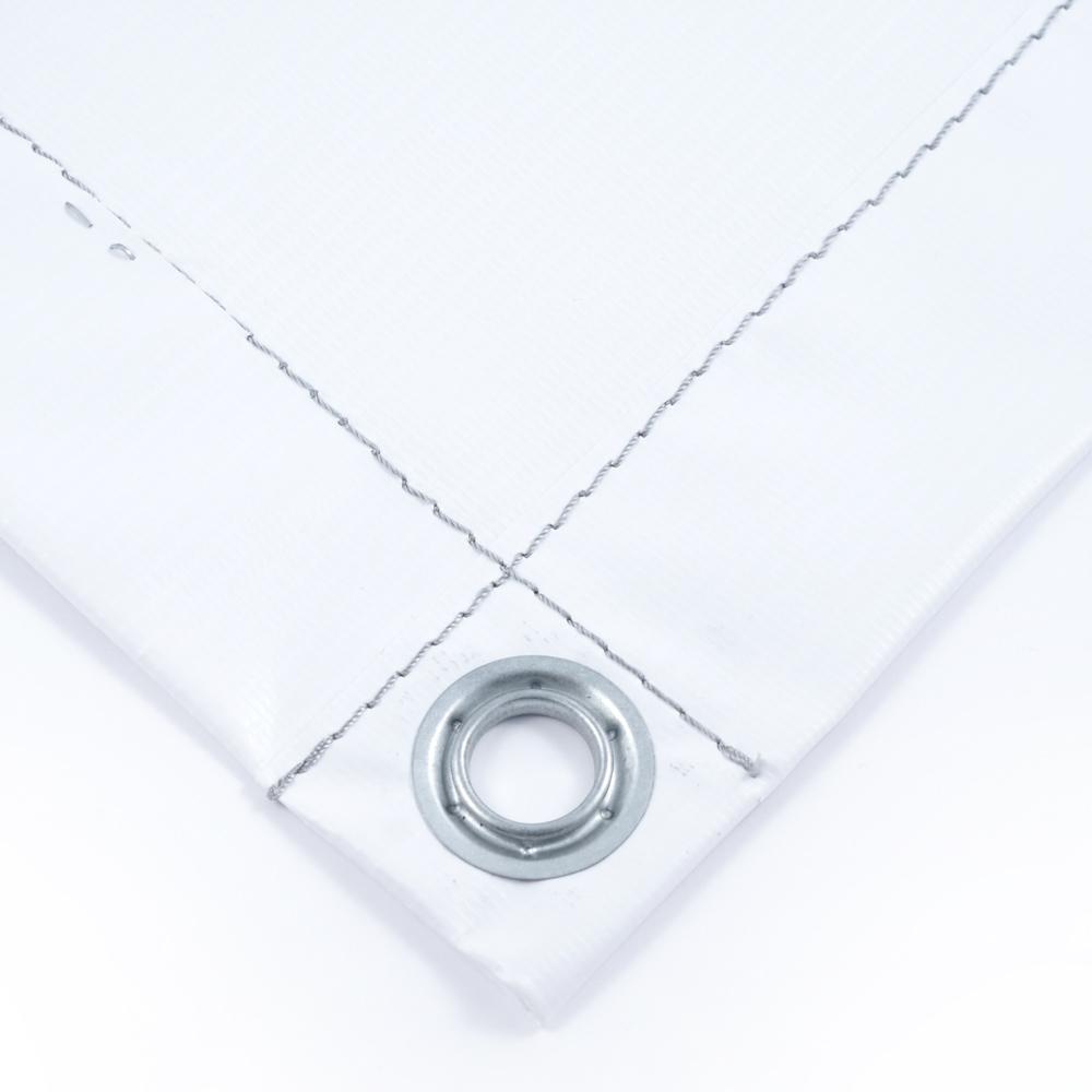 Тент баннер белый 6х10 м ПВХ 440 гр/м2 утепленный (Изолон 5 мм)