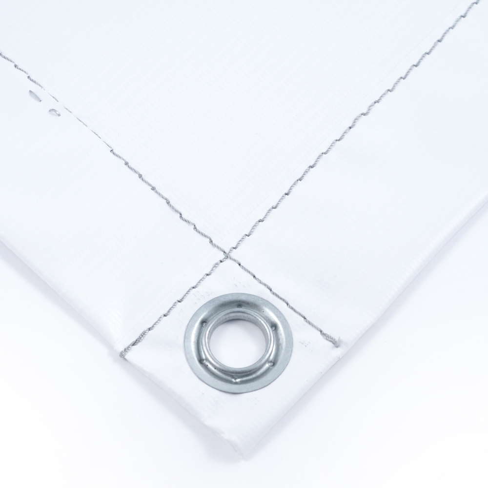 Тент баннер белый 10х20м ПВХ 440 гр/м2 утепленный (Изолон 5 мм)
