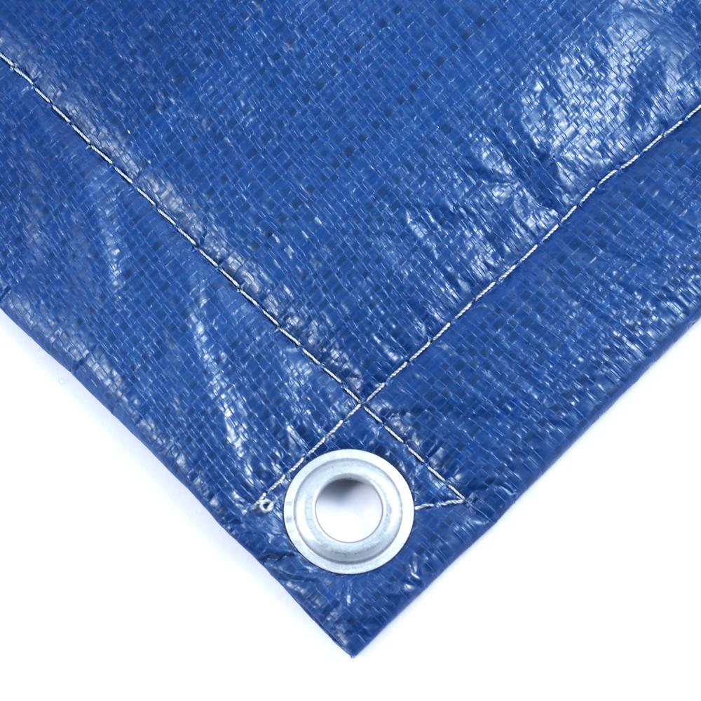 Тент Тарпаулин синий утепленный (Изолон 5 мм) 180 г/м² 4х15 м