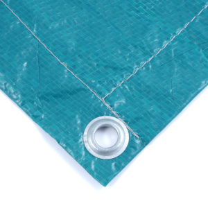 Тент Тарпаулин зеленый утепленный (Изолон 5 мм) 120 г/м² 10х20 м