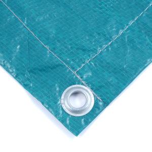 Тент Тарпаулин зеленый утепленный (Изолон 5 мм) 120 г/м² 20х20 м